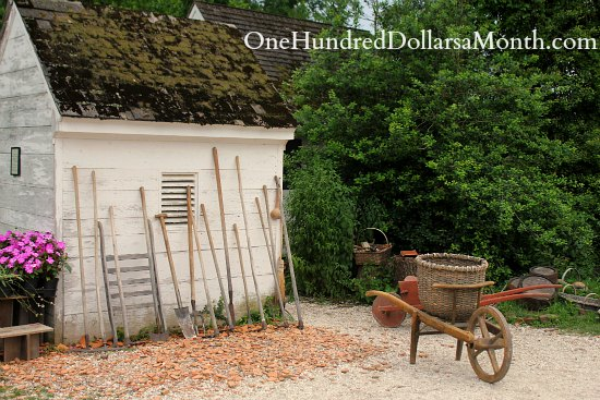 Gardens in Colonial Williamsburg, Va