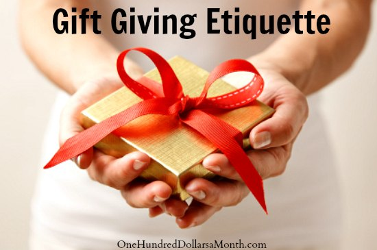 Gift Giving Etiquette - What Do You Think?