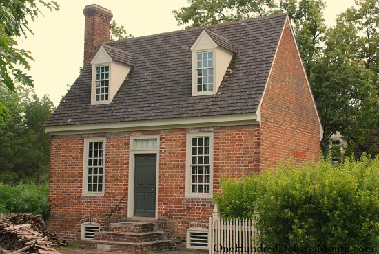 Homes of colonial williamsburg va one hundred dollars a for Colonial reproduction house plans