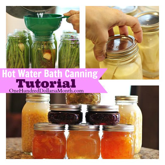 Hot Water Bath Canning Tutorial