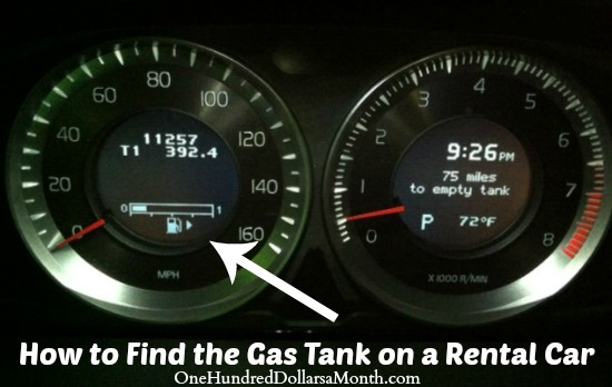 How to Find the Gas Tank on a Rental Car