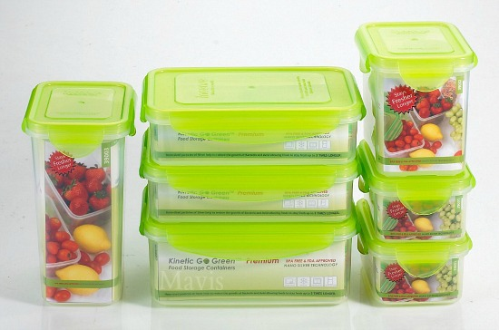 Kinetic Go Green Premium Nano Silver 14 Piece Food Storage Container Set