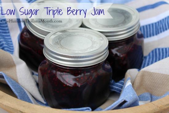 Low Sugar Triple Berry Jam Recipe