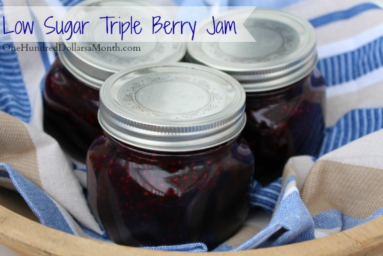 Low Sugar Triple Berry Jam Recipe