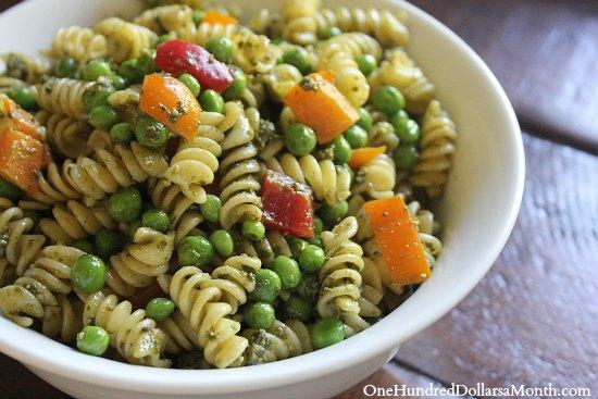 Pasta Salad Recipe – Pasta, Pesto and Peas