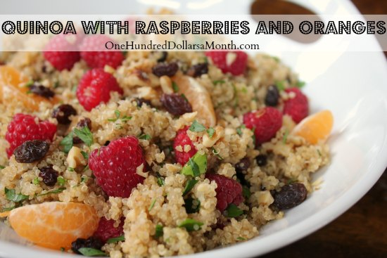 Quinoa with Raspberries and Oranges