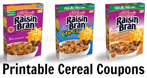 Raisin Bran cereal coupons