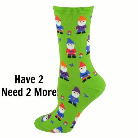 Cool Crew Socks We have 2 pairs of gnome socks