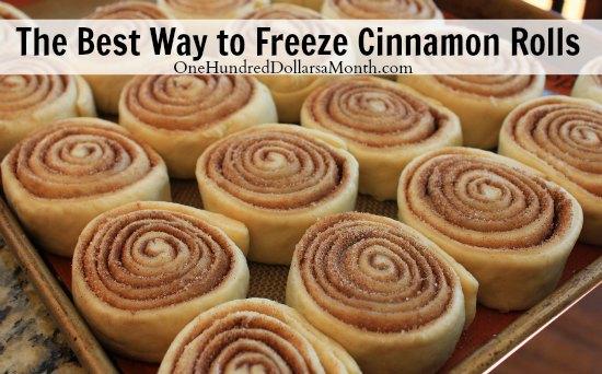 The Best Way to Freeze Cinnamon Rolls + Recipe