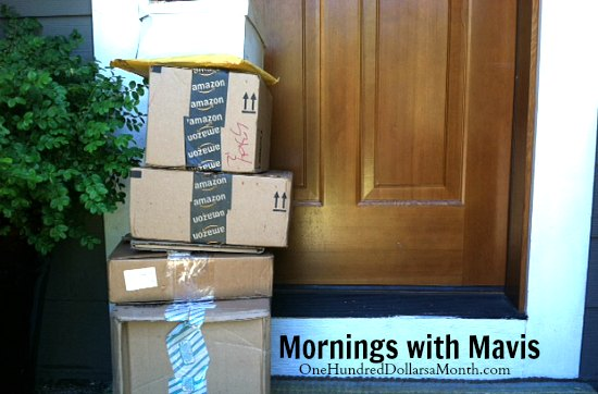amazon packages on doorstep