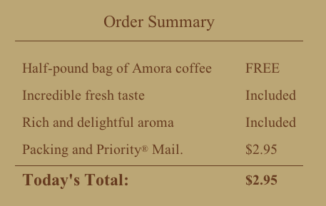amora coffee deal