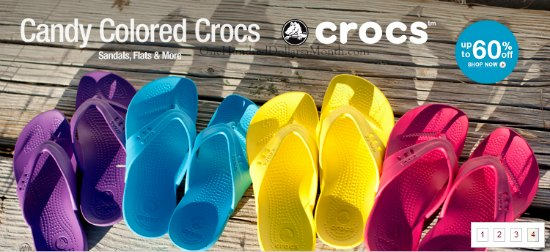 candy colored crocs