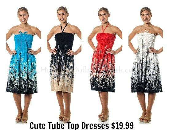 cute tube top dress
