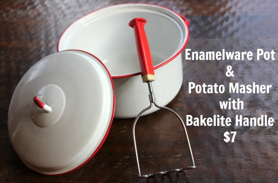 One Man's Trash is Another Man's Treasure – Red and White Enamelware + Vintage Berry Press
