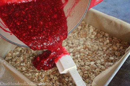 Whole Grain Raspberry Bars