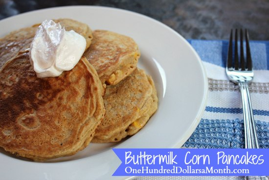 Buttermilk Corn Pancakes