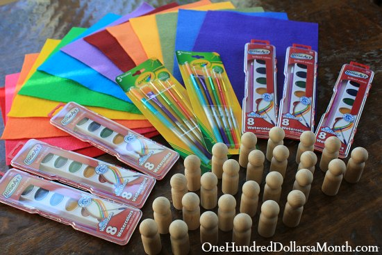 Easy Crafts for Kids – Wooden Gnomes