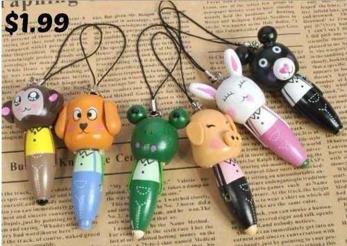Cute Cartoon Animal Wooden Ball Point Pen
