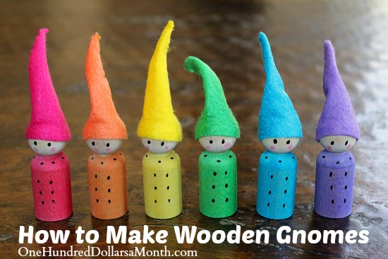 Easy crafts for kids wooden gnomes one hundred dollars for How to make simple crafts at home