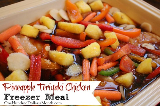 Freezer Meals – Pineapple Teriyaki Chicken