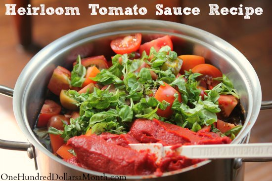 Heirloom Tomato Sauce Recipe