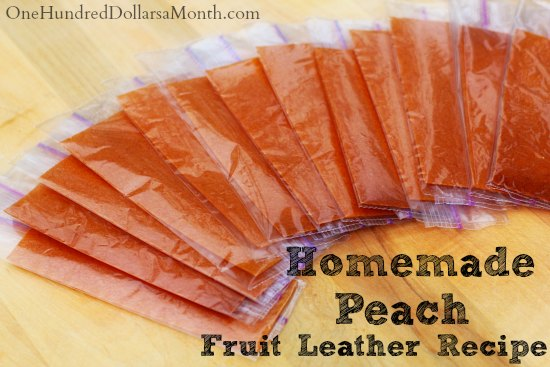 Homemade Fruit Leather Recipe - Peach