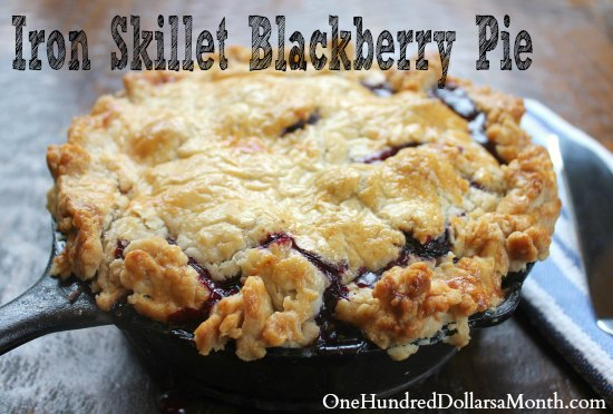 Iron Skillet Blackberry Pie