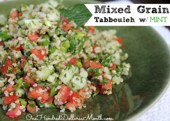 Mixed Grain Tabbouleh with Mint