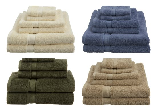 Pinzon by Amazon.com Egyptian Cotton 725-Gram 6-Piece Towel Set