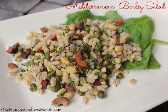 Vegan Recipe - Mediterranean Barley Salad