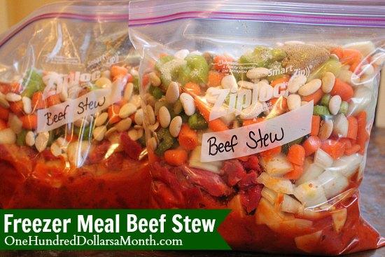 freezer meals beef stew