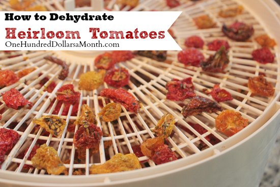 how to dehydrate heirloom tomatoes