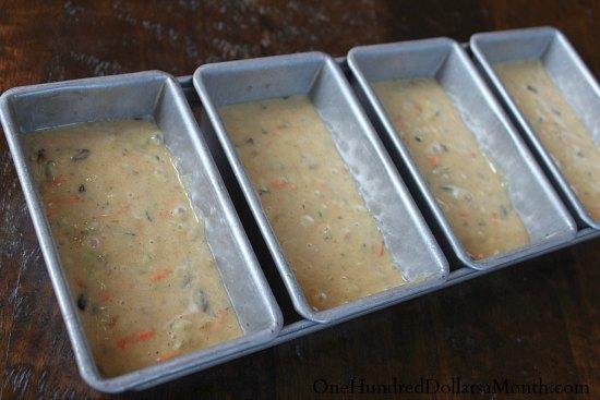 mini loaf pan zucchini bread