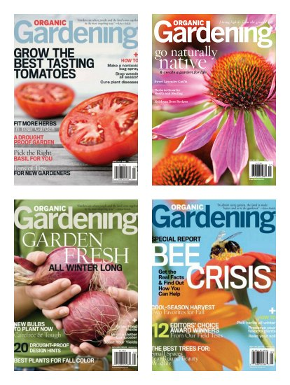 Organic Gardening Magazine Subscription Only $4.99 a Year