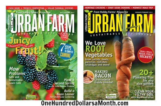 1 Year Subscription to Urban Farm Magazine ly $8 99 e Hundred Dollars