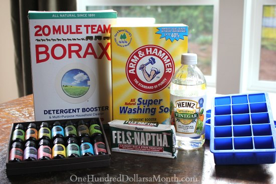 DIY Homemade Laundry Detergent Tabs