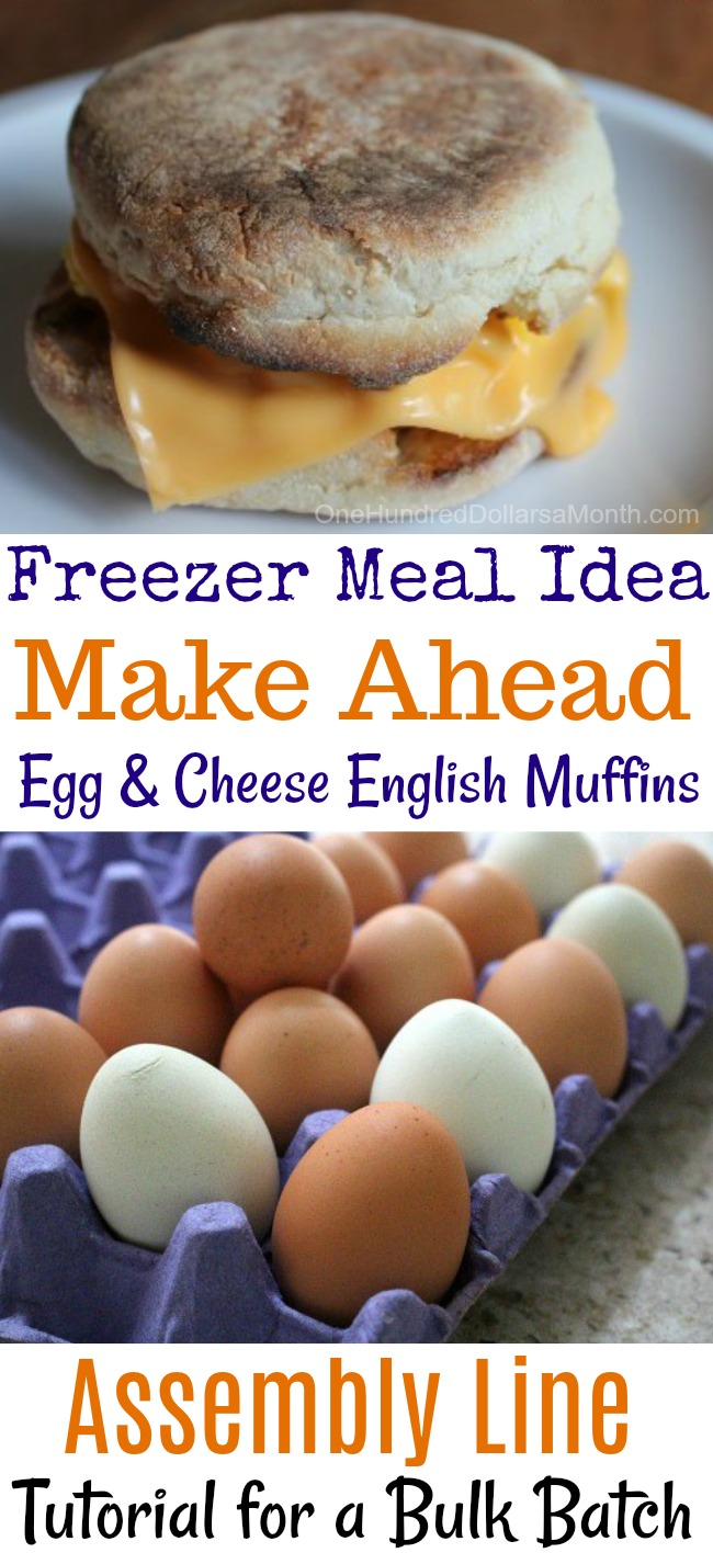 Freezer Meals – Egg and Cheese English Muffins
