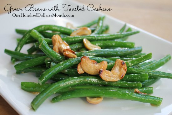 Green Beans with Toasted Cashews