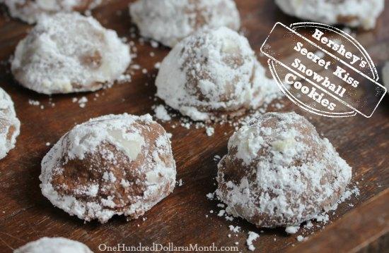 Hershey's Secret Kiss Snowball Cookies