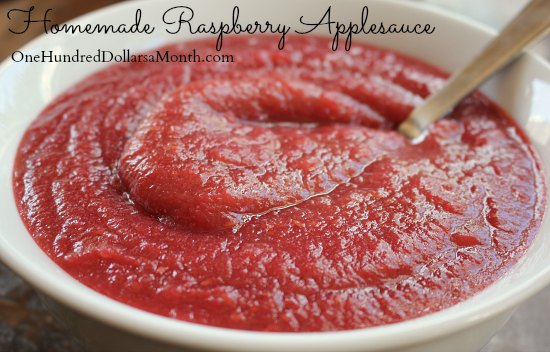 Homemade Raspberry Applesauce