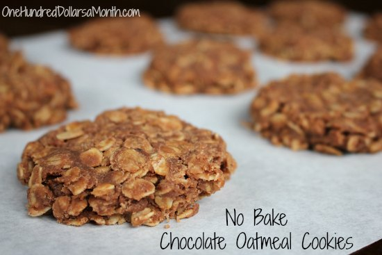 No Bake Chocolate Oatmeal Cookies - One Hundred Dollars a Month