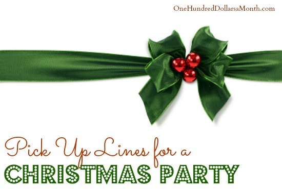 Pick Up Lines for a Christmas Party