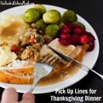Pick Up Lines for Thanksgiving Dinner
