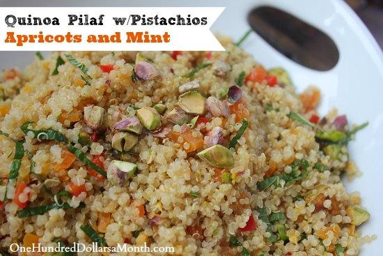 Quinoa Pilaf wPistachios Apricots and Mint