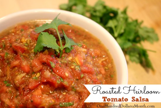 Roasted Heirloom Tomato Salsa
