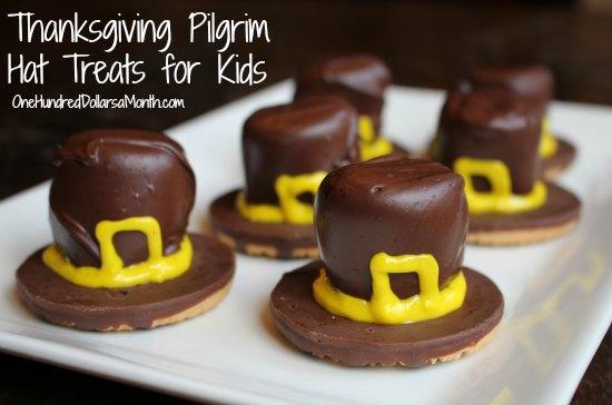 Thanksgiving Pilgrim Hat Treats for Kids