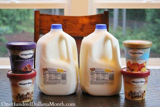 albertsons milk and ice cream