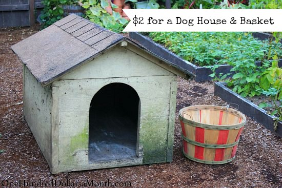 One Man's Trash is Another Man's Treasure – $2 Bushel Basket and a FREE Dog House