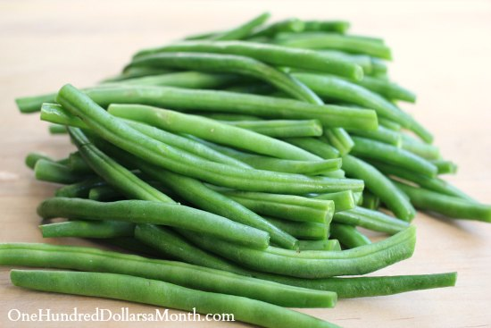 Garlic Beans with Pine Nuts