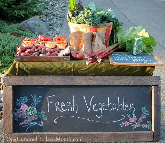 heirloom vegetable stand